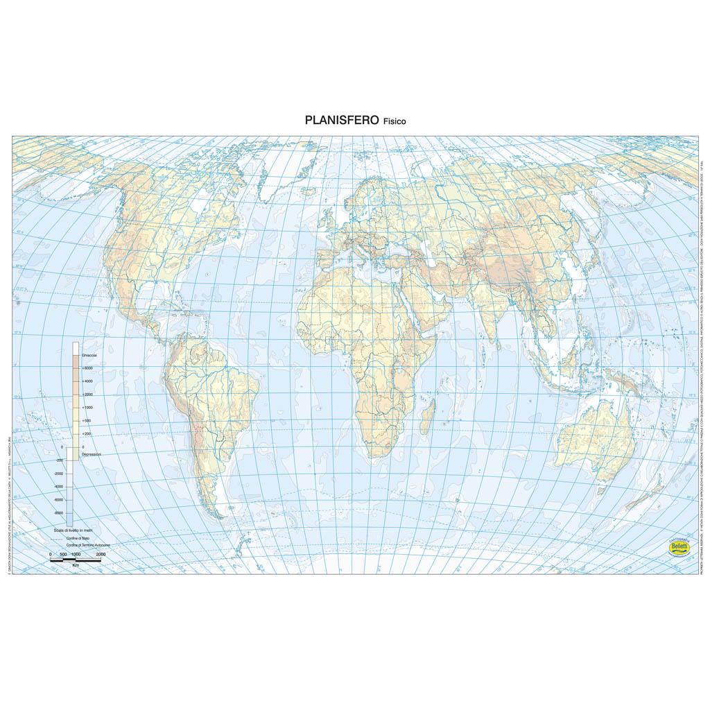 Cartina Del Planisfero Muta.Mappa Mondo Muta