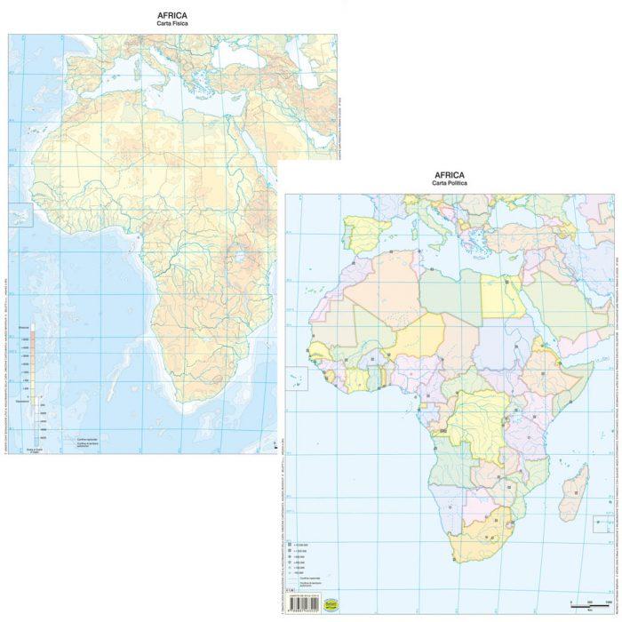 Cartina Fisica Muta Usa.Africa Scolastica Da Banco Muta