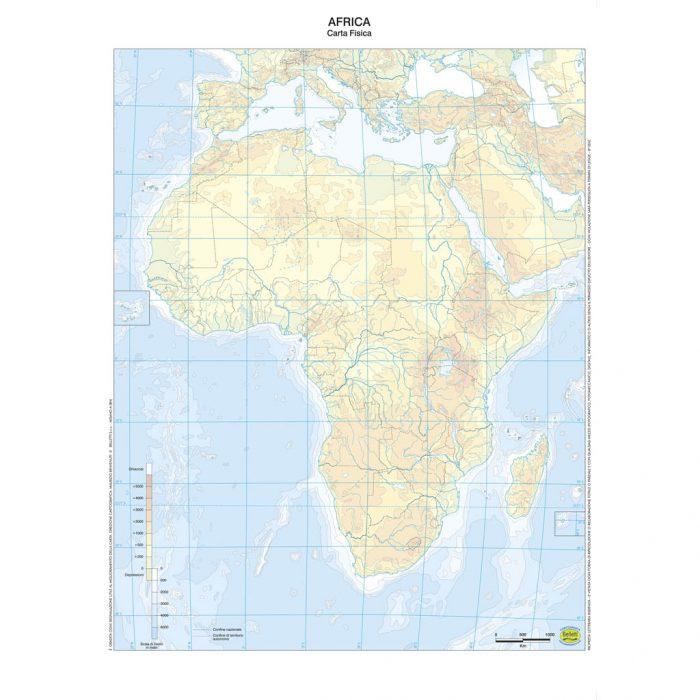 Cartina Muta Africa.Africa Scolastica Da Banco Muta