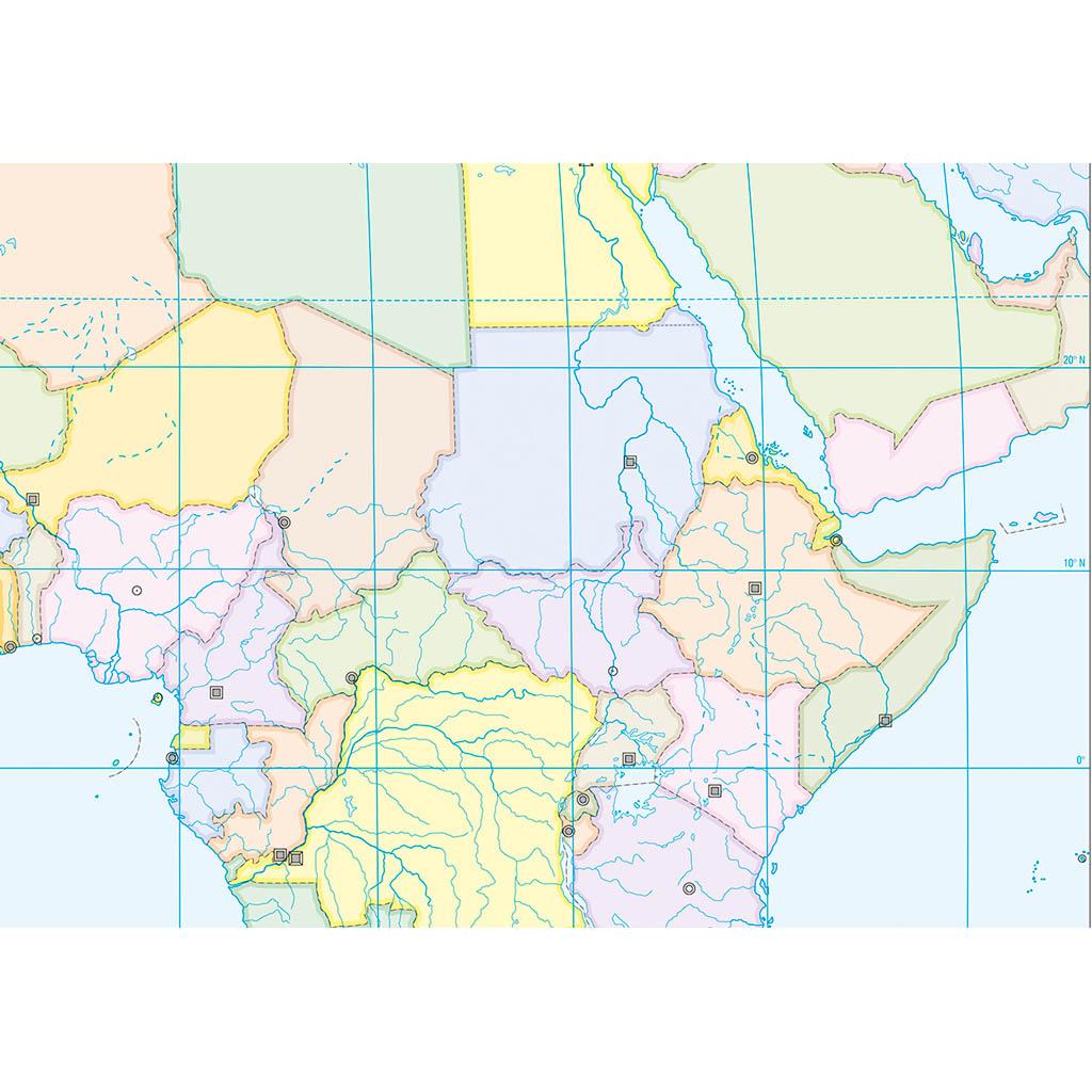 Cartina Africa Muta Fisica.Africa Scolastica Da Banco Muta Belletti Editore