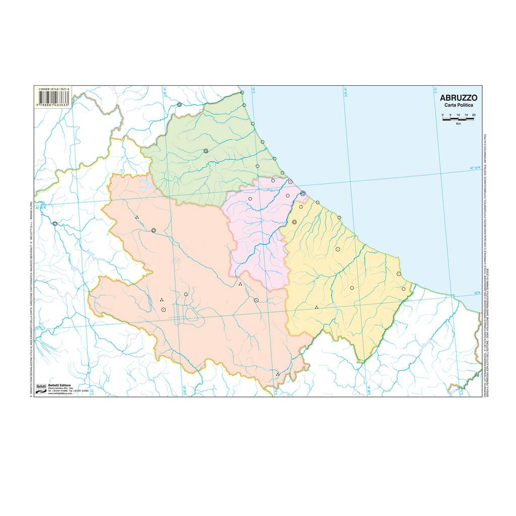 Cartina Muta Dell Abruzzo.Abruzzo Scolastica Da Banco Muta