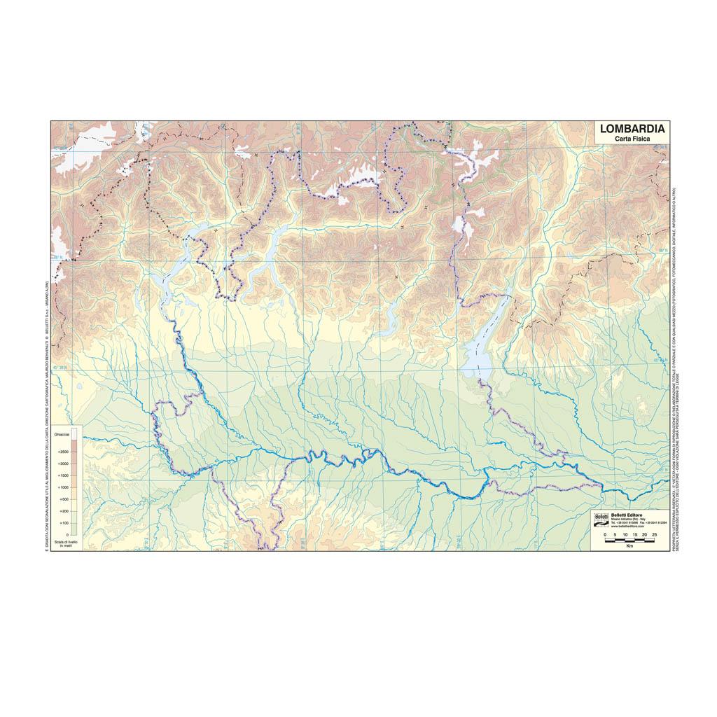 Cartina Muta Lombardia Province.Lombardia Scolastica Da Banco Muta Belletti Editore