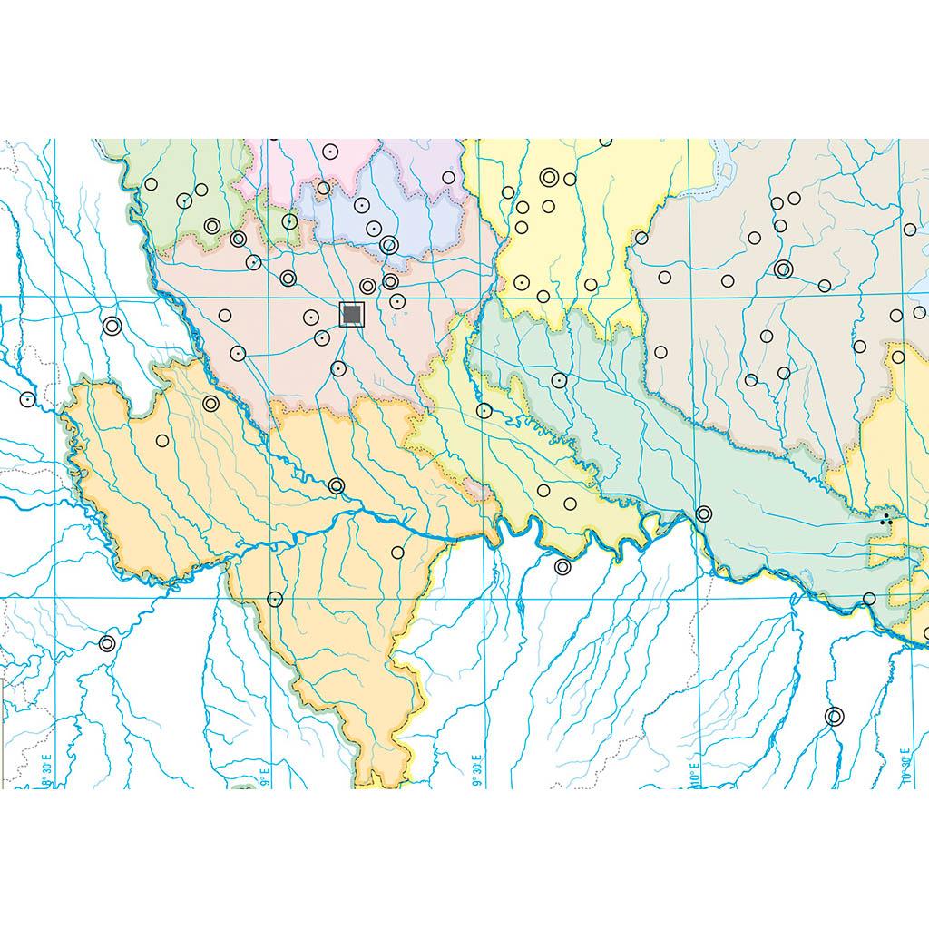 Cartina Fisica Muta Lombardia