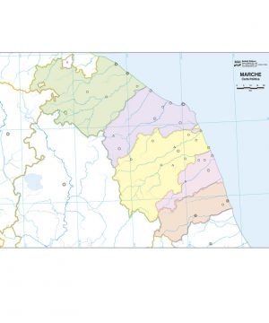 Puglia Cartina Muta.Cartina Muta Marche Con Province