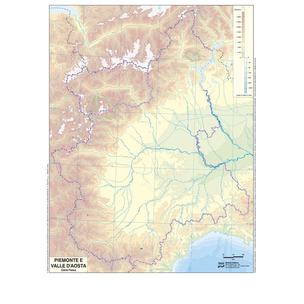 Cartina Valle D Aosta Muta.Piemonte Valle D Aosta Scolastica Da Banco Muta Belletti Editore