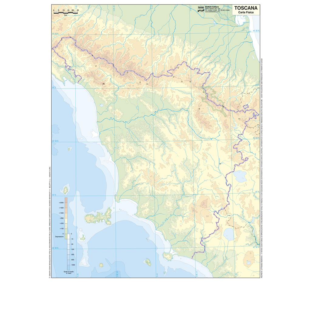 Toscana Cartina Muta.Toscana Scolastica Da Banco Muta Belletti Editore