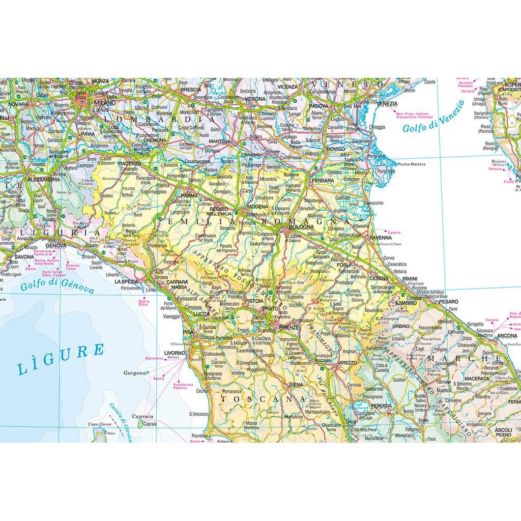 Cartina Stradale Italia Sud