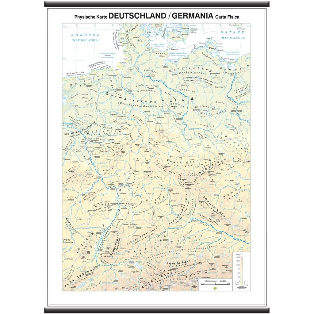 Cartina Fisica Muta Germania.Deutschland Germania Scolastica Belletti Editore