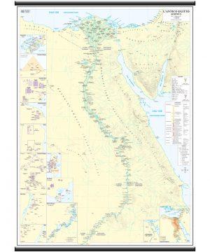 Cartina Turistica Egitto.Antico Egitto Carta Storica Belletti Editore