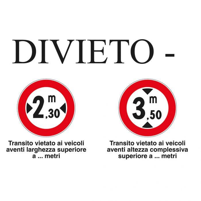 Segnali stradali - Belletti Editore MS51PL