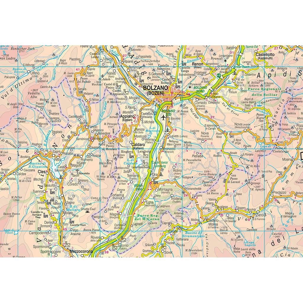 Trentino Alto Adige Cartina Stradale.Trentino Alto Adige Belletti Editore