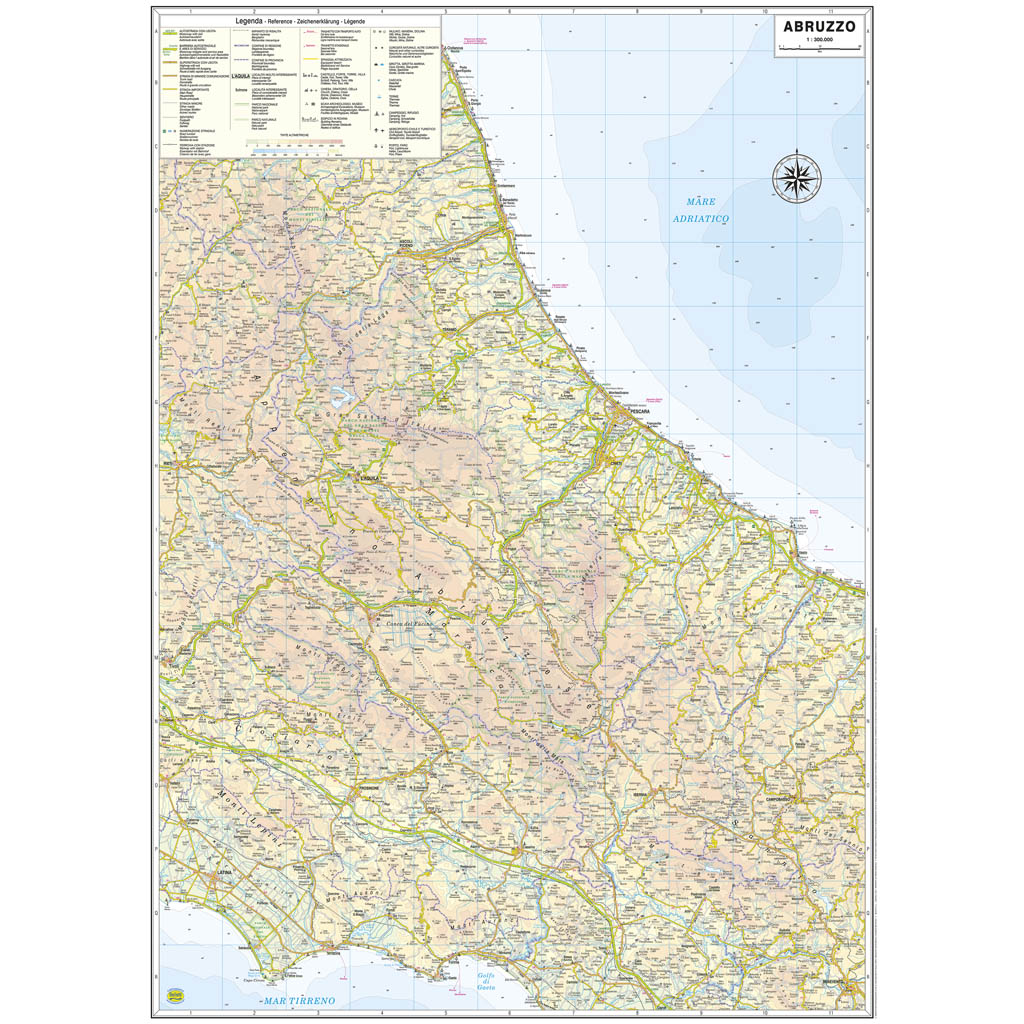 Cartina Dell Abruzzo Stradale.Abruzzo