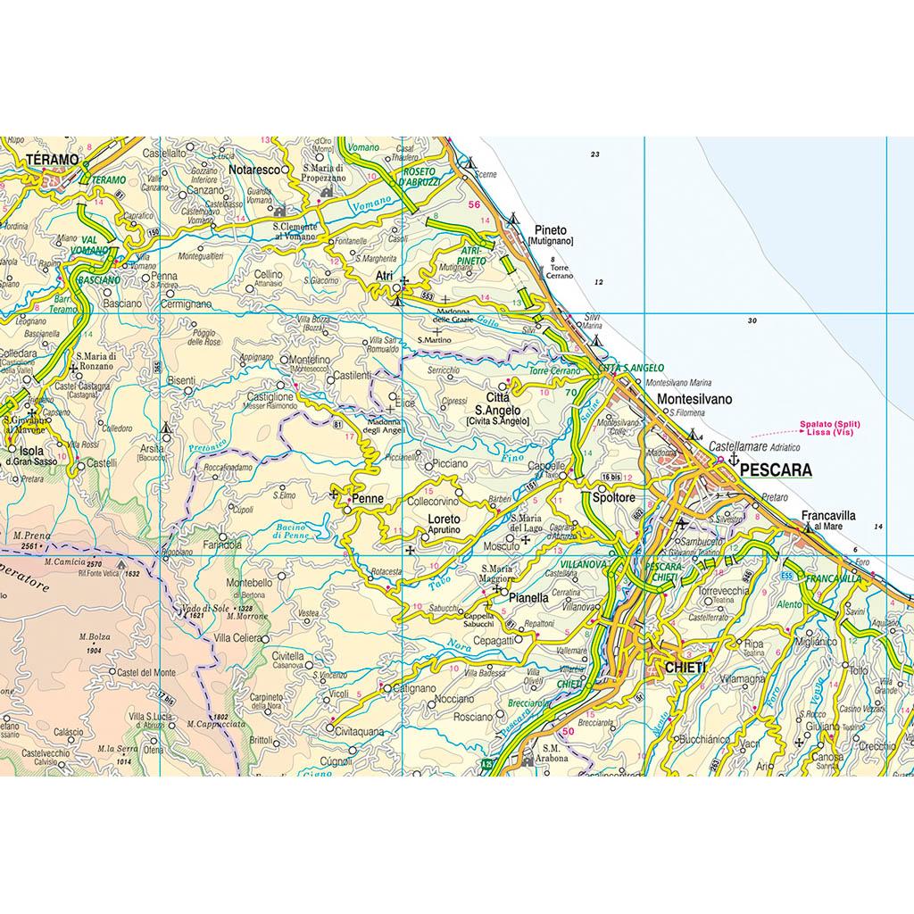 Cartina Dettagliata Abruzzo.Abruzzo Belletti Editore