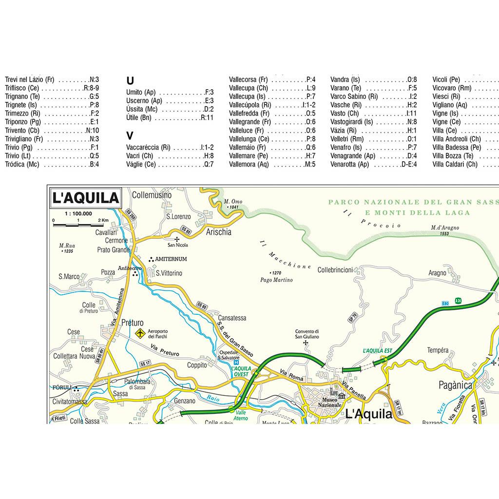 Cartina Muta Dell Abruzzo.Abruzzo