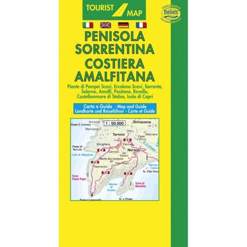 Penisola Sorrentina Costiera Amalfitana - Belletti Editore V201